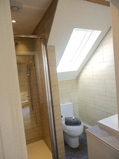 upstairs shower room (there is also a bathroom with bath downstairs)
