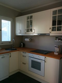 Fully equipped kitchen with  espresso coffee machine.