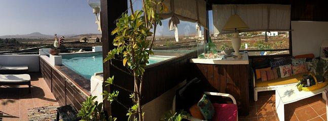 panorámica terraza exterior