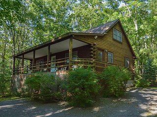 Classic Log Home in Wooded Setting, Swanton