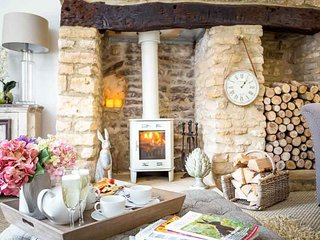 ...with a stylish log burner!