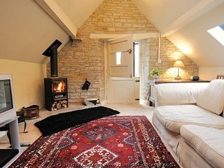 Lovely, inviting living room with log burner, perfect for two