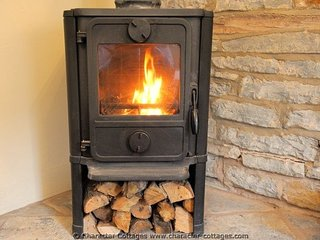 The warm, log burner