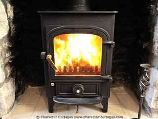 The log burner for additional heat