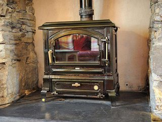 A lovely oil fired stove, perfect for winter evenings