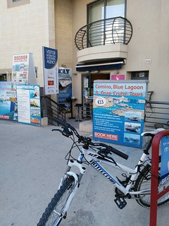 Tourist information just outside , 2 doors down. And Bicycle rentals.