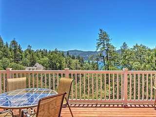 Wonderful 3BR Lake Arrowhead House w/Several Decks & Sweeping Panoramic Lake/Mountain Views - Amazing Snow & Location! Steps from Lake Attractions & Beach Club!
