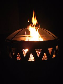 Gaze at the dance of the warm flames.