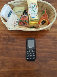 Welcome kit. Includes a prepaid phone for nationals calls