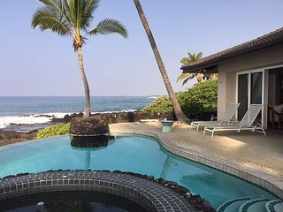 Unobstructed Oceanfront, 3 bedroom, Private Pool & Spa, Spectacular Views, Kailua-Kona