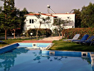 Olivetree Villa set in gardens with pool