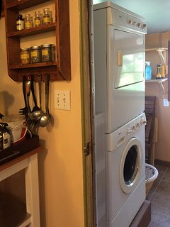 Laundry - washer and dryer, soap provided