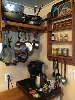 Kitchen detail - basic spices and pantry items provided