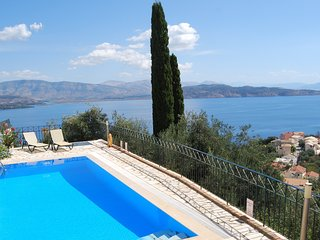 Available 12-19 August. Modern Corfu Villa with Amazing  Panoramic Sea Views.