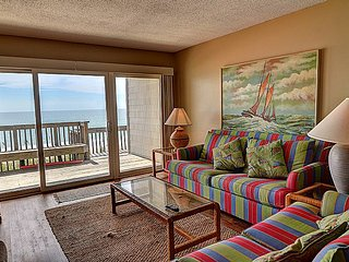Queen's Grant B-105 - Dynamic Oceanfront View, Pool, Hot Tub, Boat Ramp & Dock, Topsail Beach