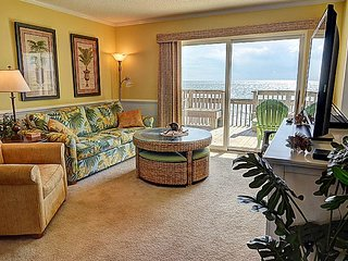 Queen's Grant A-102 -  Oceanfront, Pool, Hot Tub, Boat Ramp & Dock, Topsail Beach