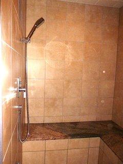 State of the art steam sauna/shower room.