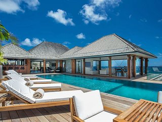 St Barts Resort Style Luxury Escape with Pool and Ocean Views, Anse des Cayes