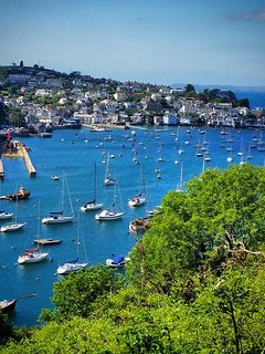 Polruan and Fowey are less than five miles away