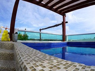 MAGIC PARADISE MAMITAS BEACH AREA,  Ocean View from rooftop & Private Pool, Playa del Carmen