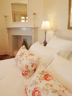 Bedroom 3 with Queen bed & ornamental fireplace