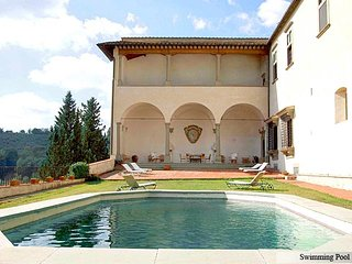 In the heart of Tuscany, Renaissance Villa with pool and views, Chianti and Sien