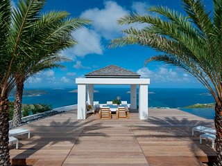St Barts Tropical Luxury Villa with Breathtaking Panoramic Ocean Views