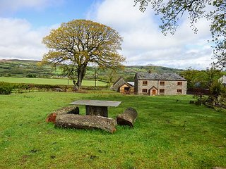 PENTRE MAWR, detached farmhouse, hot tub, WiFi, pet-friendly, in Painscastle, Ref 920613