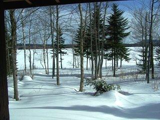#144 Four-Season log cabin on First Roach Pond, Kokadjo