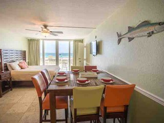 Amazing View from this Two Bedroom Beachfront Suite. Two Balconies! Great Value!