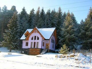 The chalet in the winter, peacefully but conveniently located