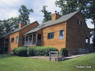 2 Bedroom 2 full Bathroom Log Cabin with in unit washer and dryer.