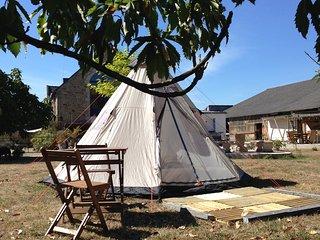 Séjour insolite sous tente Tipi en Morbihan Auray, Pluneret