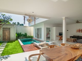Pool, Living room and kitchen is open area