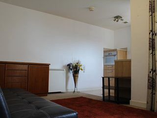 Sleek 1 bedroom flat with great roof terrace view, Southampton