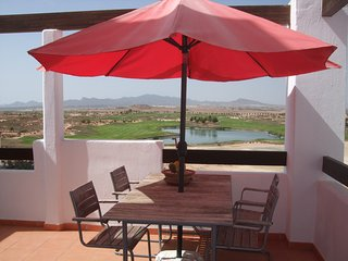 Outstanding frontline penthouse on golf course, Mazarrón