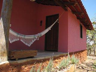 Casinha Rosa - Beira do Almas no Sítio Lavrinhas