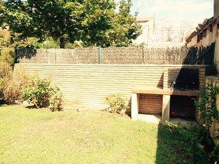 jardin de 120m2 con barbacoa!