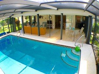 Heated (electric) pool.