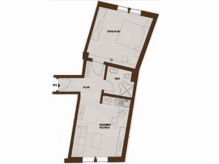Komfortables 2-Raum-Apartment im Einzeldenkmal