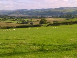 Views to the Cumbrian Mountains from the higher fields on the Farm