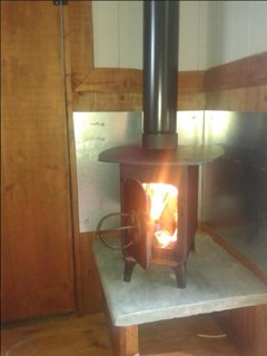 Glowing Wood Burner keep you warm all year round