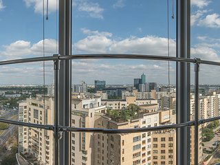 City center apartment! Babka Tower with A/C, Warsaw