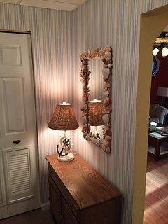 Entrance Area with Nautical/Seashell Themes Throughout the House