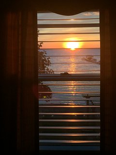 Sunset View from Upstairs Bedrooms