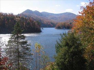 High-elevation mountain lake--mountain & lake views.