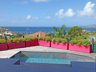 Villa Pink Caraibes piscine prive vue paradisiaque mer caraibes 4 clevacances