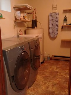 washer and dryer plus iron inside the house