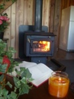 Warm up by the Log Burning Wood Stove