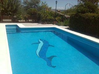 Vistas pantano Iznajar, piscina, barbacoa